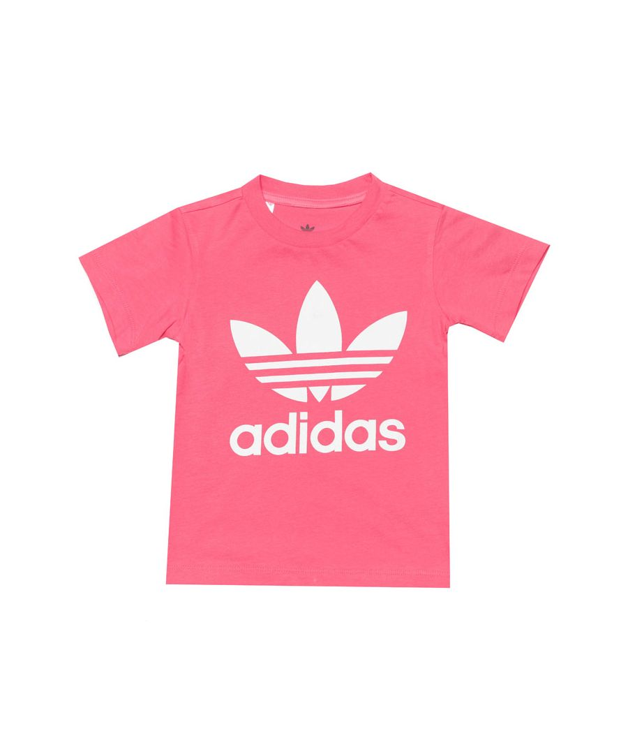 Image for Adidas Originals Baby Girl Trefoil T-Shirt Pink