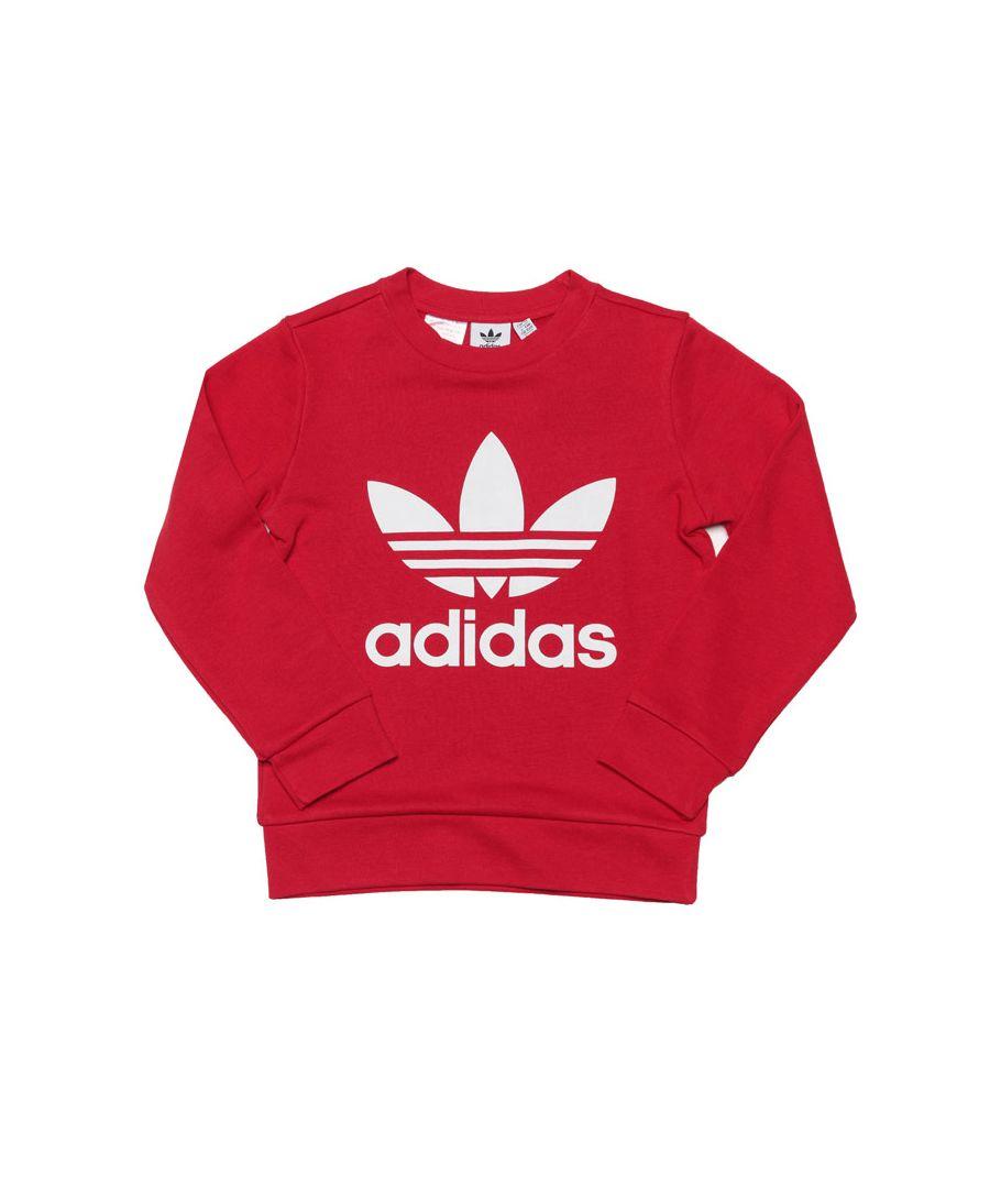 Image for Boy's adidas Originals Junior Crew Sweat in Red