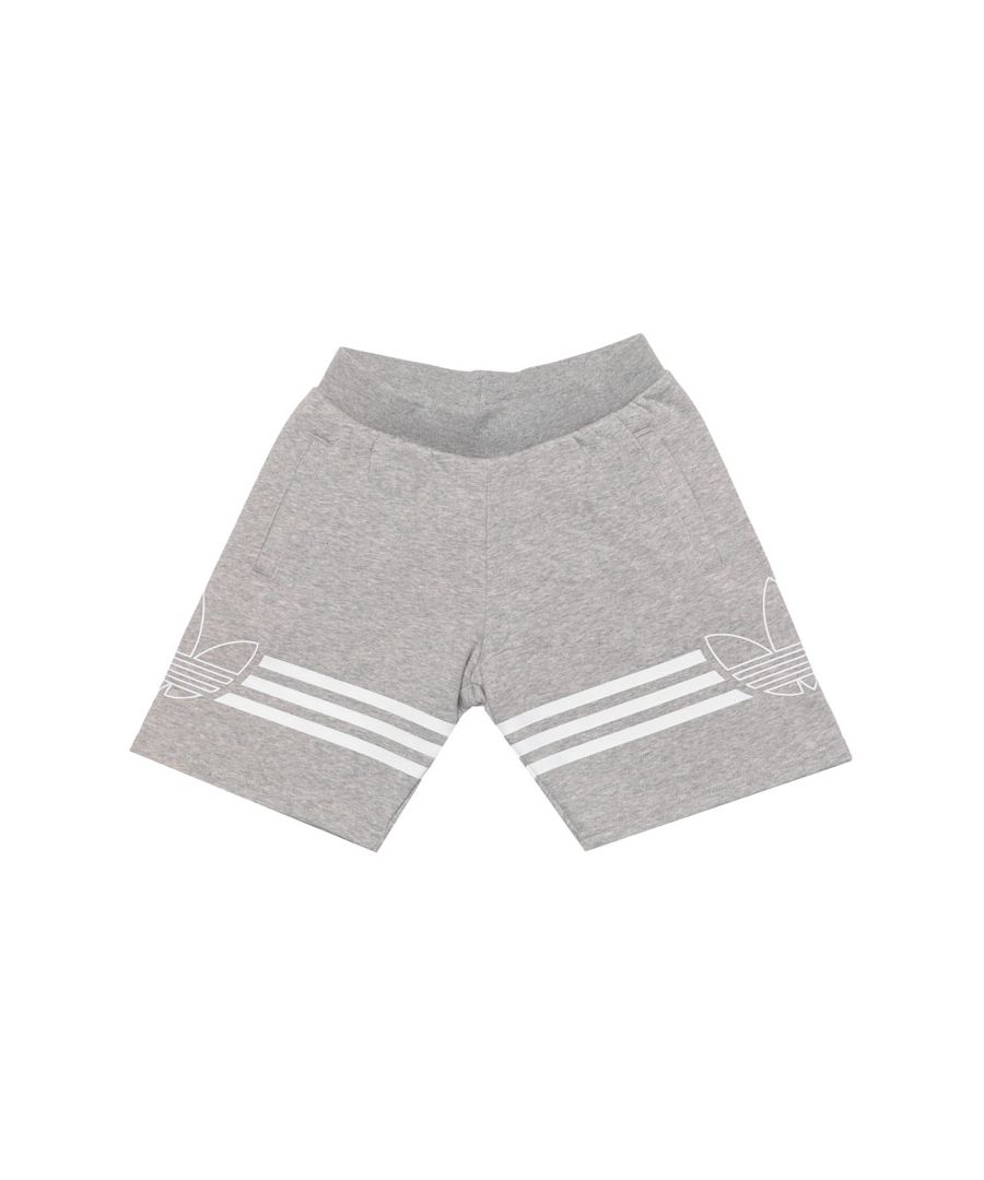 Image for Boy's adidas Originals Junior Outline Shorts in Grey