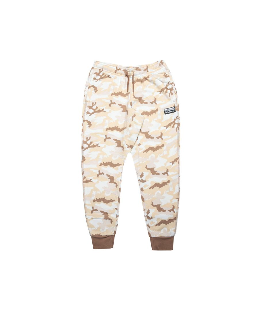 Image for Boy's adidas Originals Junior R.Y.V. Camouflage Jog Pants in Beige