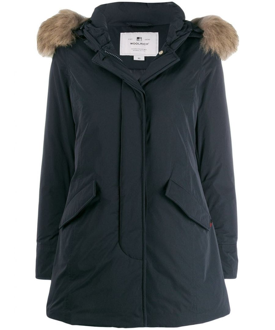 Image for WOOLRICH WOMEN'S WWCPS2833UT0573324 BLUE COTTON OUTERWEAR JACKET