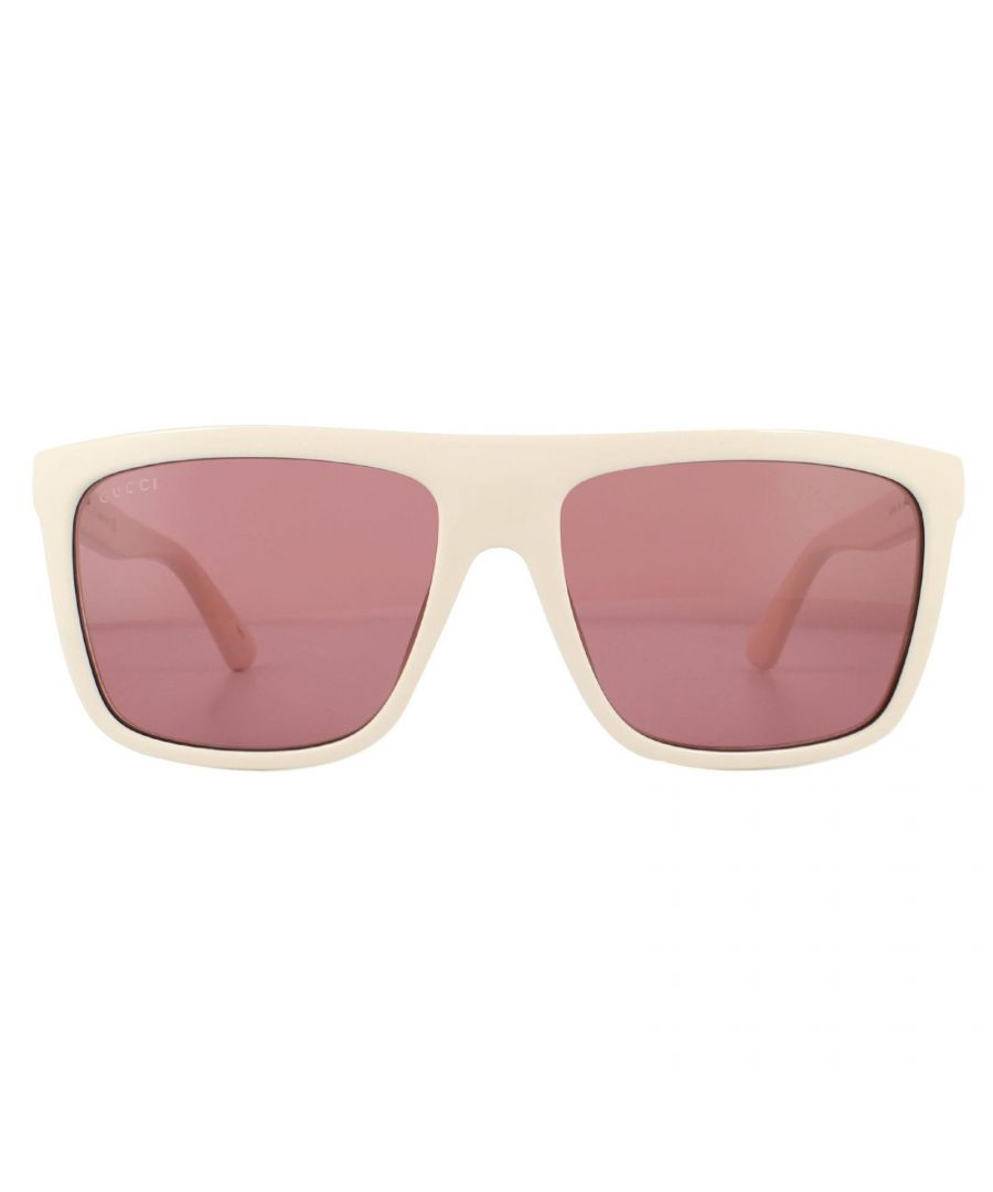 Image for Gucci Sunglasses GG0748S 004 White Red