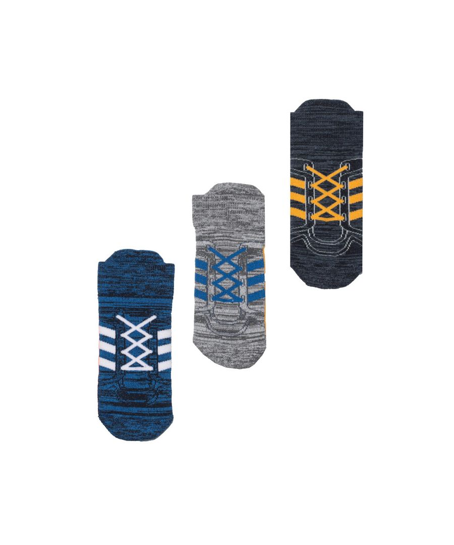 Image for Boy's adidas Infant 3 Pack Socks in Blue