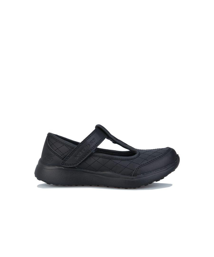 Image for Girl's Skechers Children Microstrides School Shoes in Black