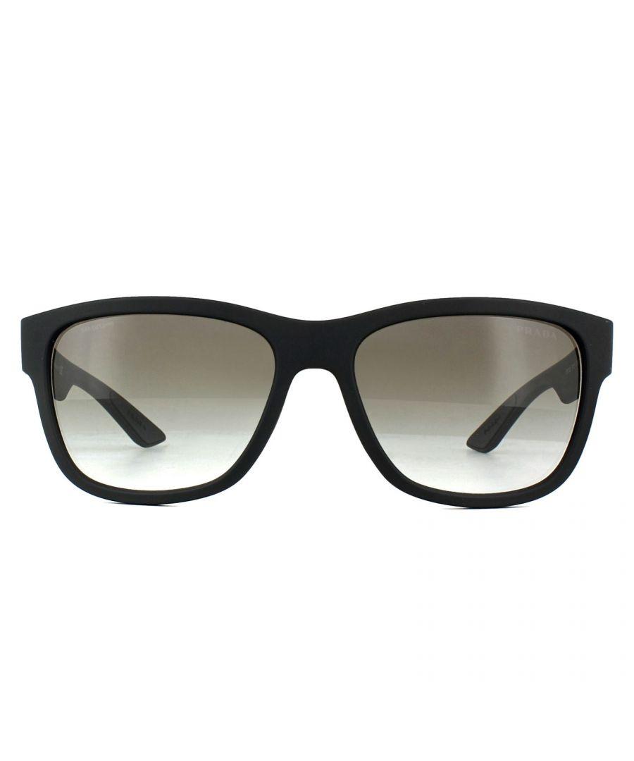 Image for Prada Sport Sunglasses PS03QS DG00A7 Black Rubber Grey Gradient