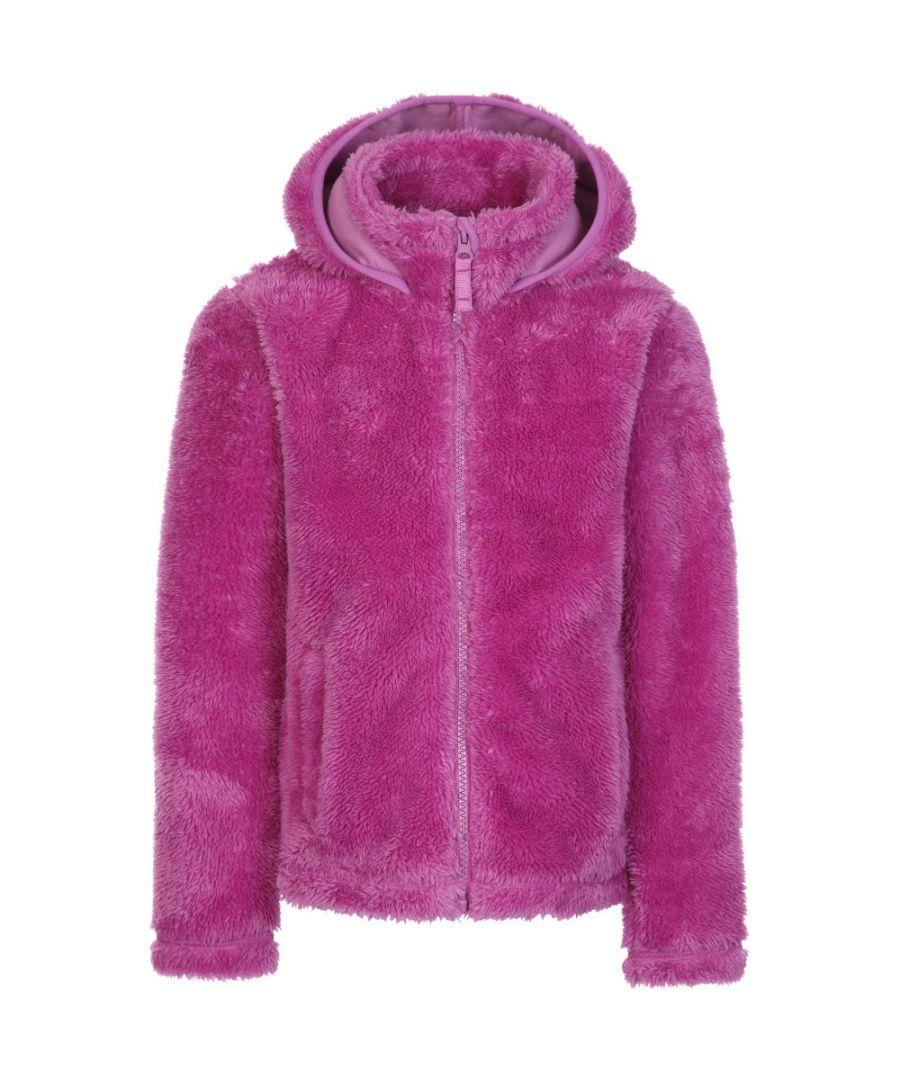 Image for Trespass Girls Violetta AT400 Full Zip Fluffy Fleece Jacket