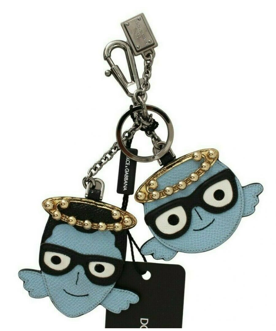 Image for Dolce & Gabbana Blue Angel Leather Dominico Stefano Keychain