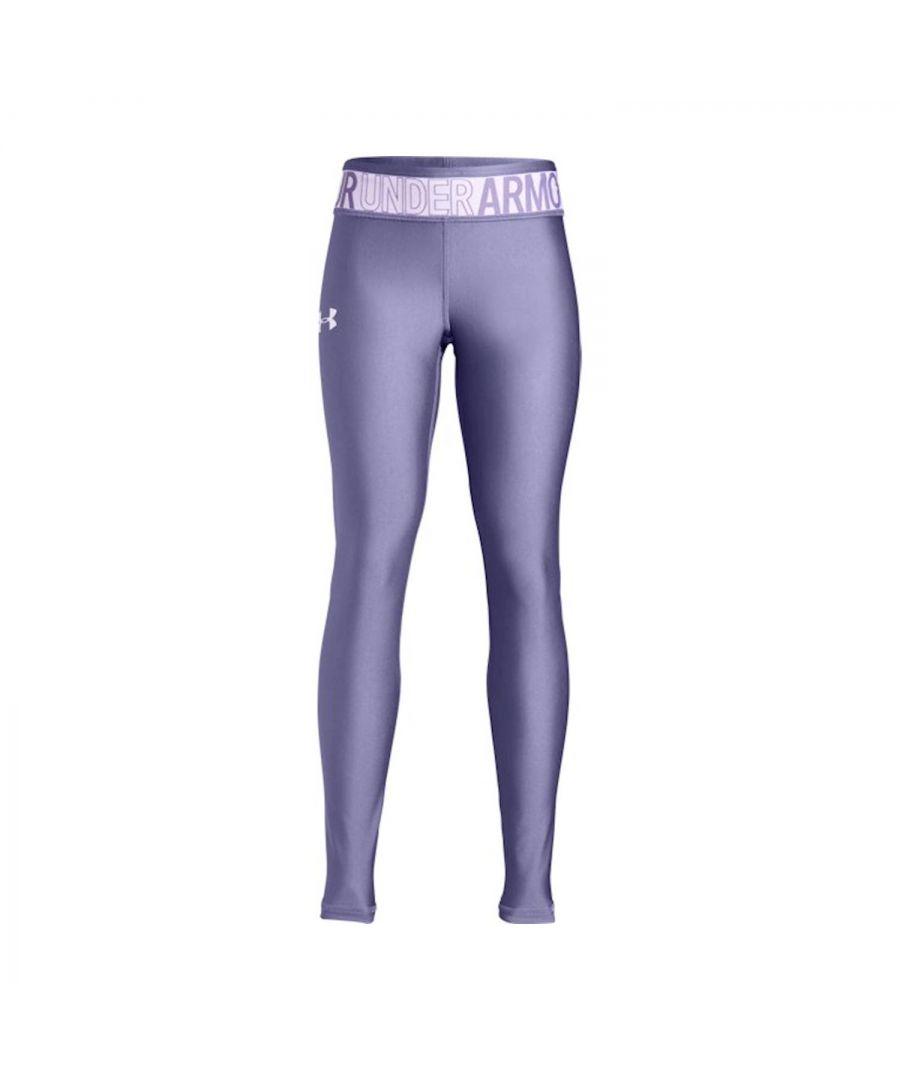 Image for Under Armour HeatGear Armour Girls Legging Purple - YM