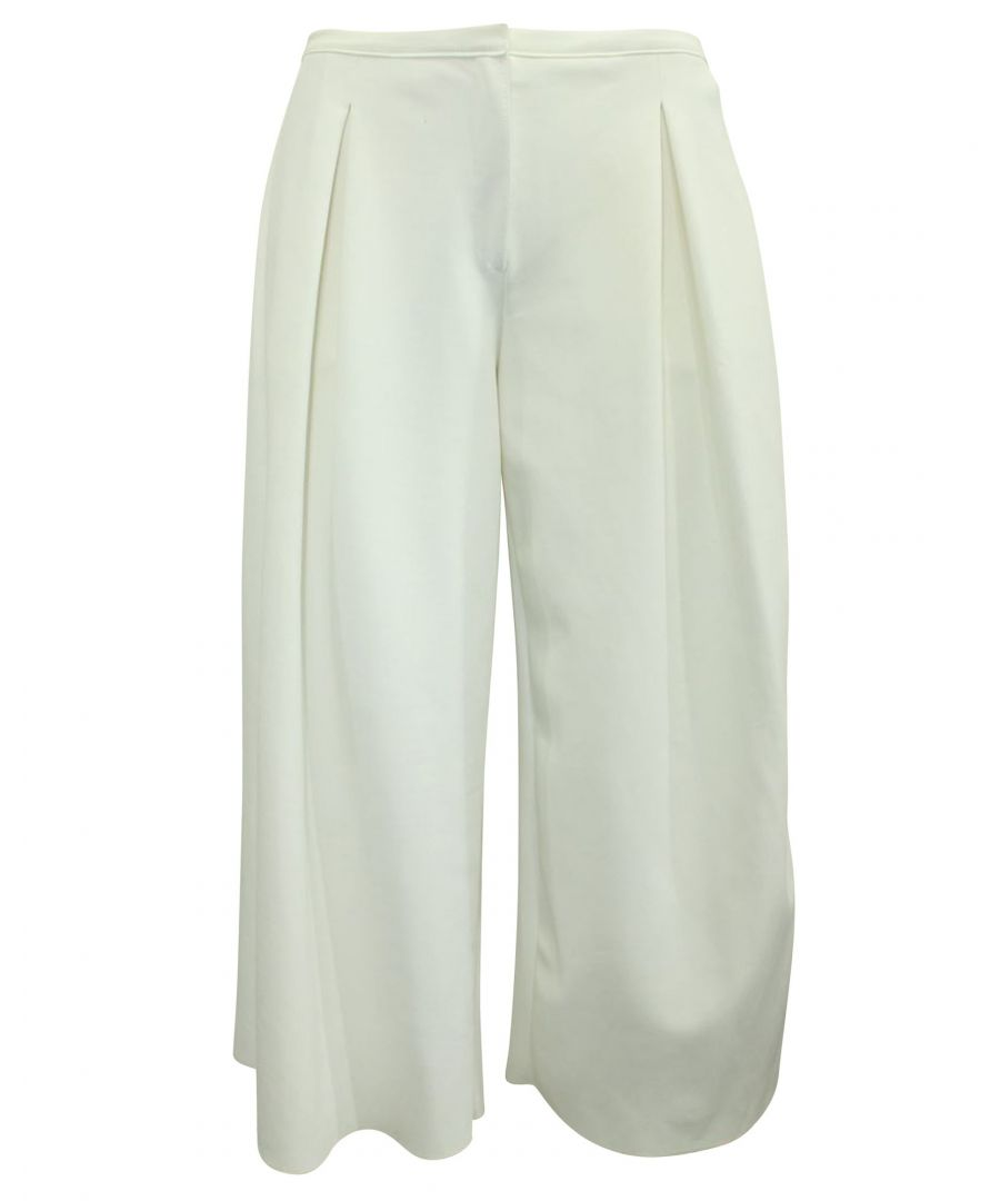 Image for Emporio Armani Wide Leg Off White Pants