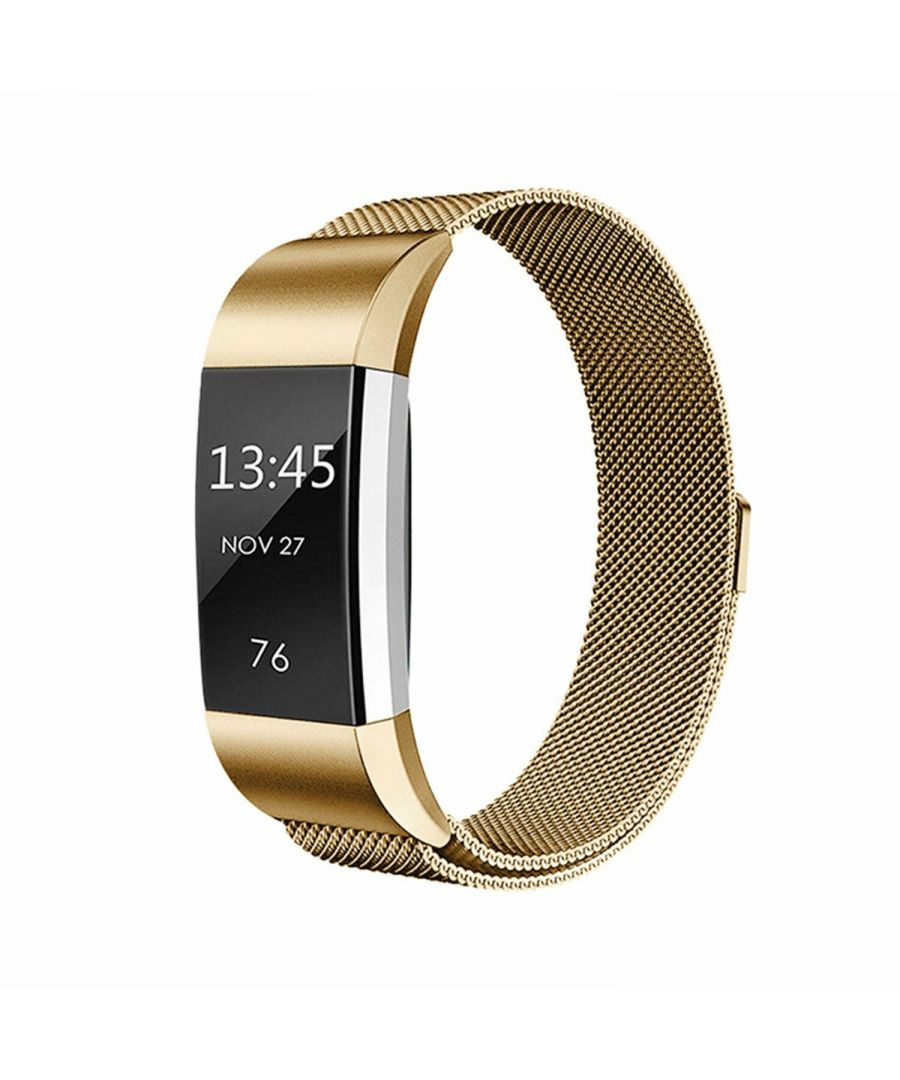 Image for Aquarius Fitbit Charge 2 Milanese Replacement Straps Gold