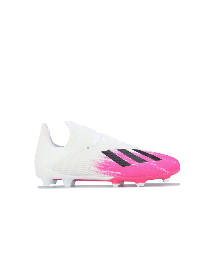 Image for Boy's adidas Children X 19.3 FG Football Boots in White pink