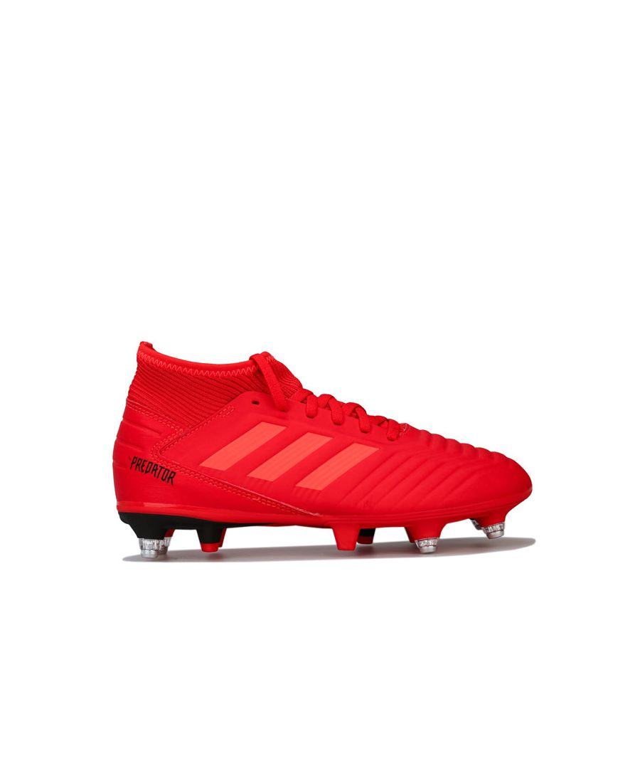 Image for Boy's adidas Junior Predator 19.3 SG Football Boots in Red