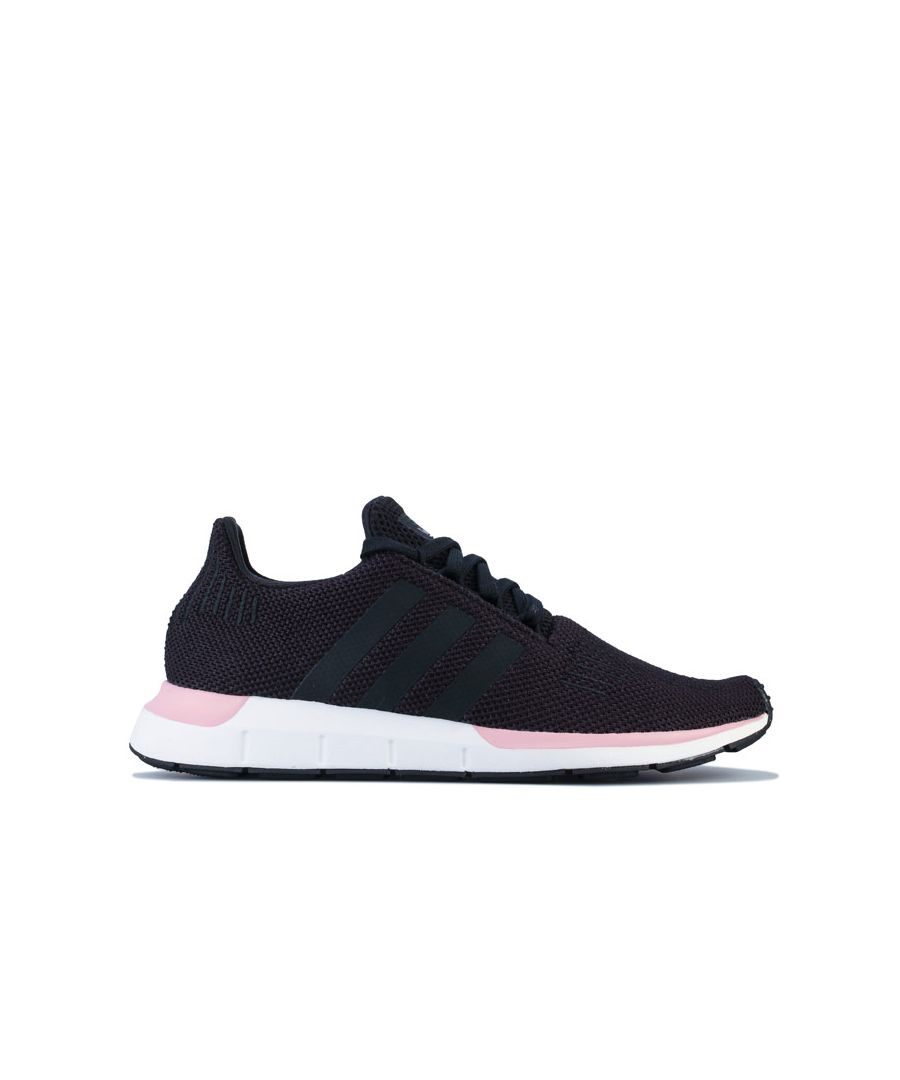 Image for Women's adidas Originals Swift Run Trainers in black pink