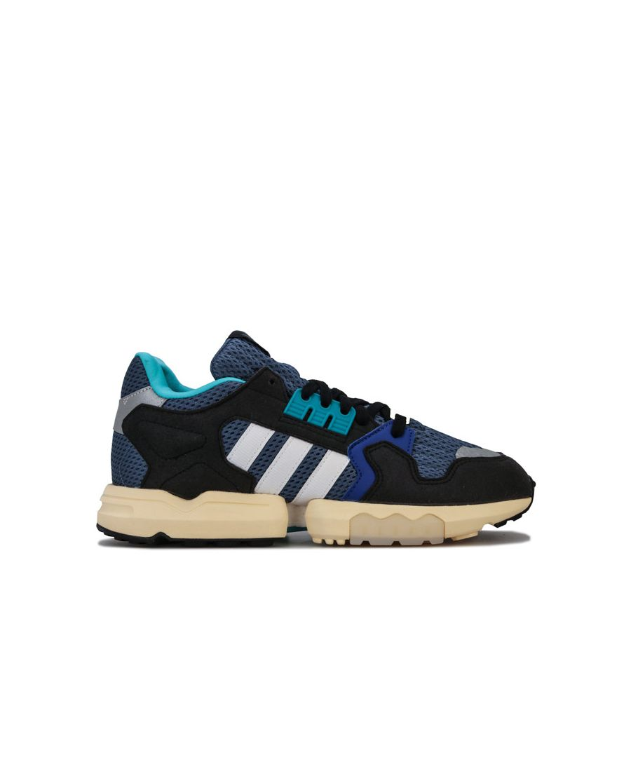 Image for Men's adidas Originals ZX Torsion Trainers in Blue-White