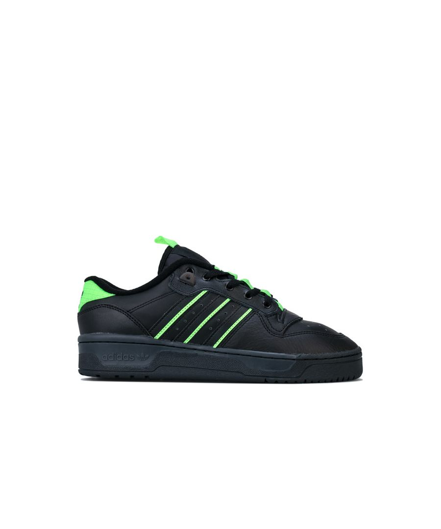 Image for Men's adidas Originals Rivalry Low Trainers in black green