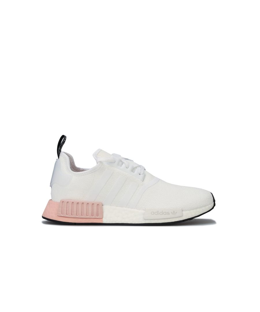 Image for Men's adidas Originals NMD_R1 Trainers in White pink