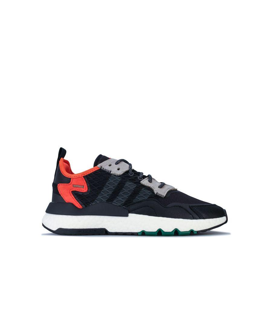 Image for Men's adidas Originals Nite Jogger Trainers in Black
