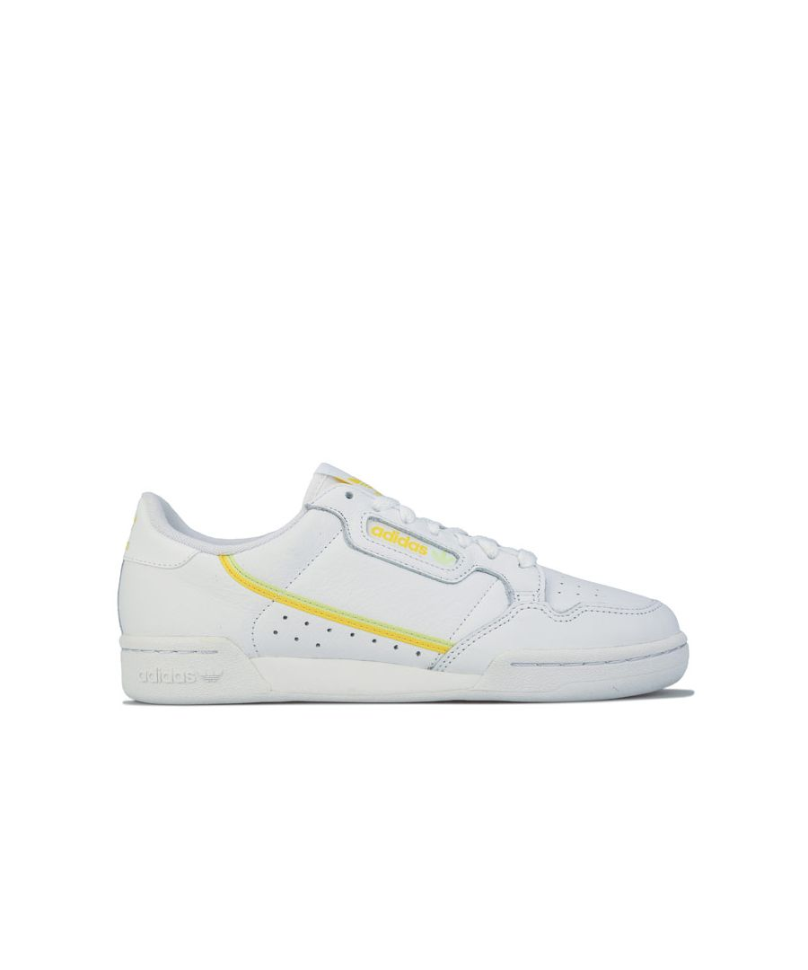Image for Women's adidas Originals Continental 80 Trainers in White yellow