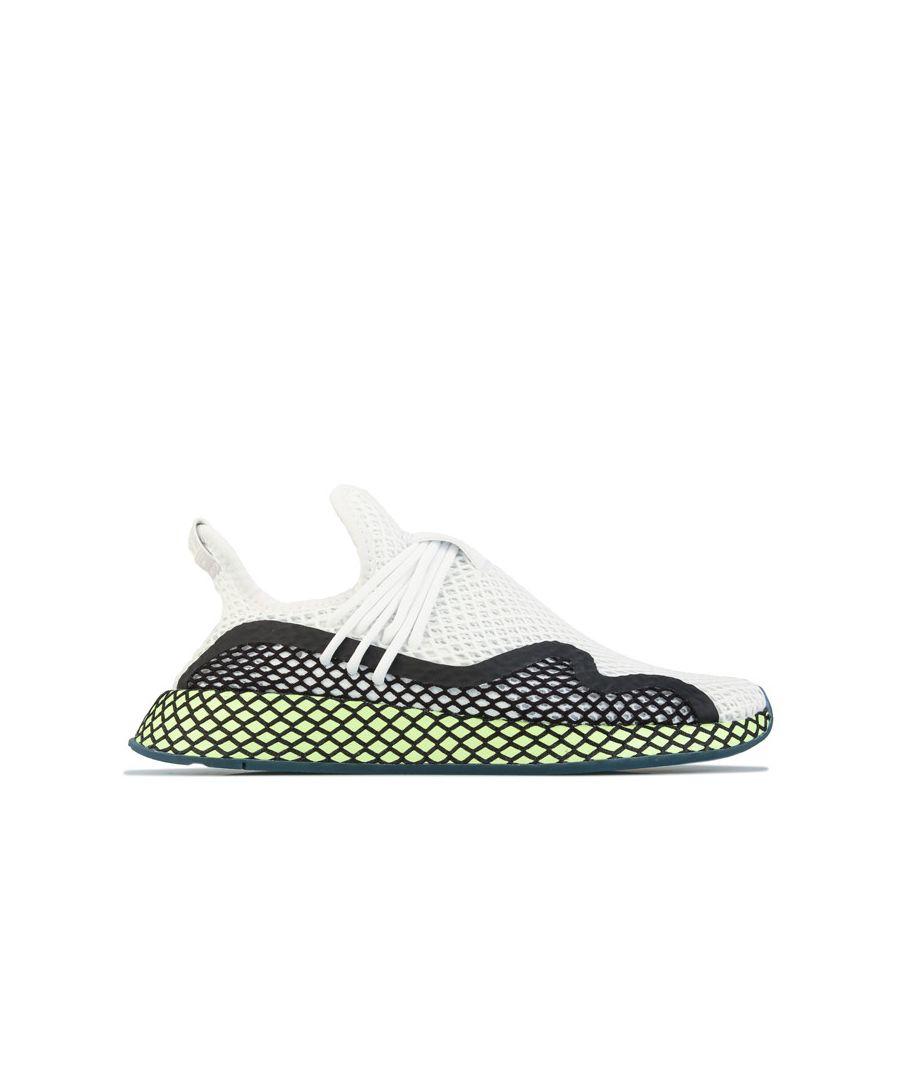 Image for Men's adidas Originals Deerupt S Runner Trainers in White