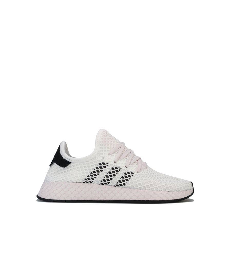 Image for Women's adidas Originals Deerupt Runner Trainers in White Black