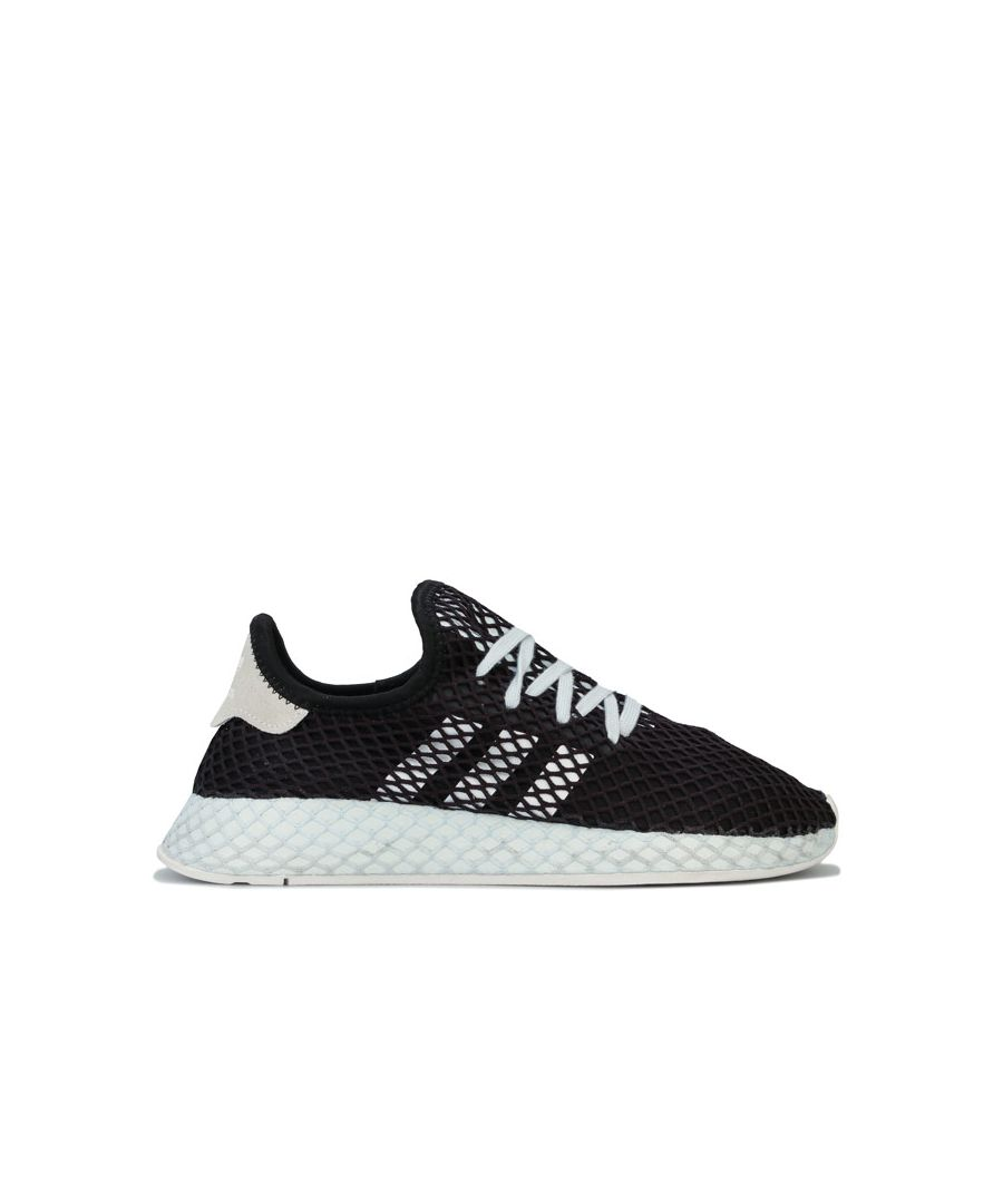 Image for Women's adidas Originals Deerupt Runner Trainers in Black-White