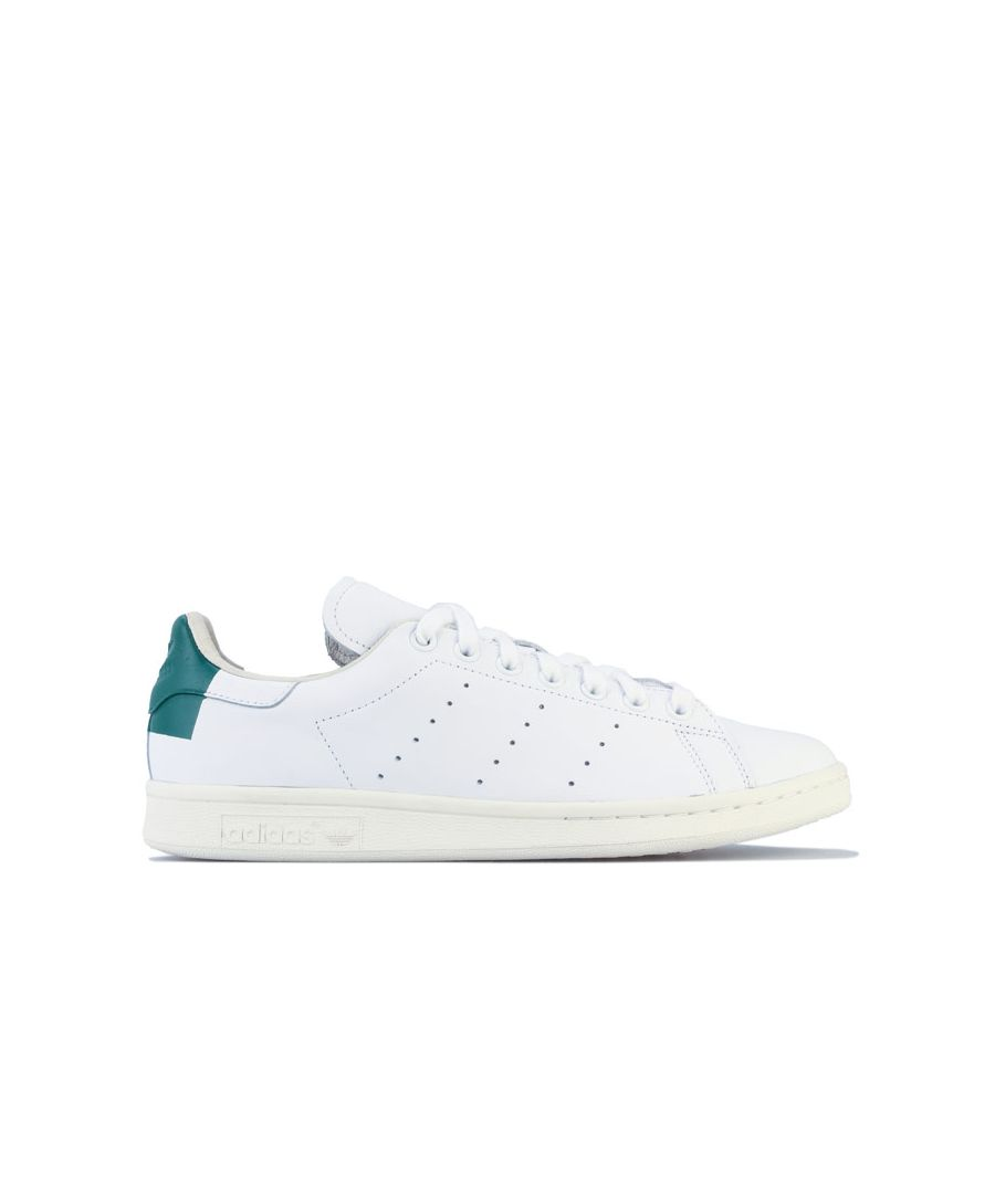Image for Adidas Originals Stan Smith Trainers in White Green
