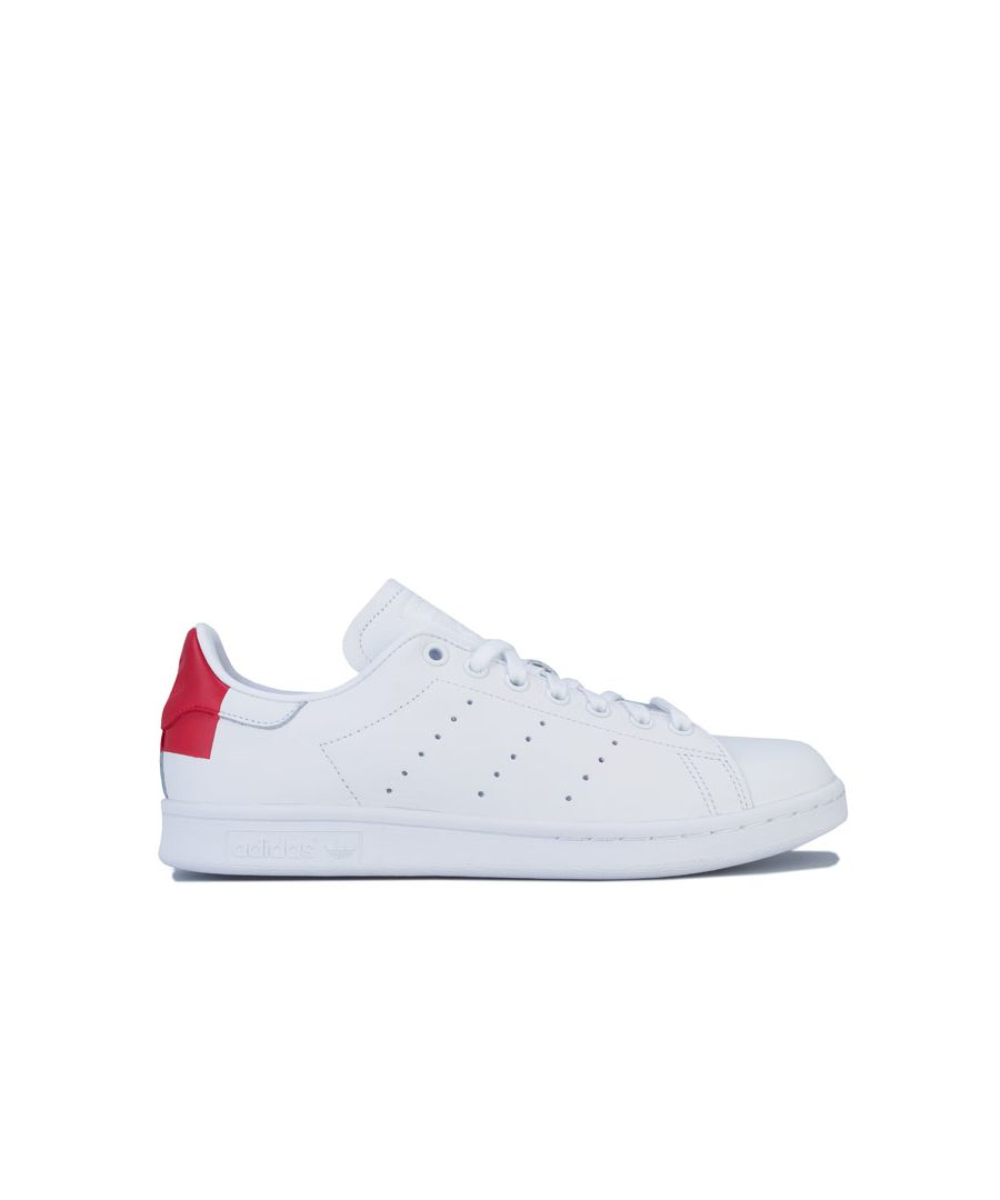 Image for Adidas Originals Stan Smith Trainers in White red