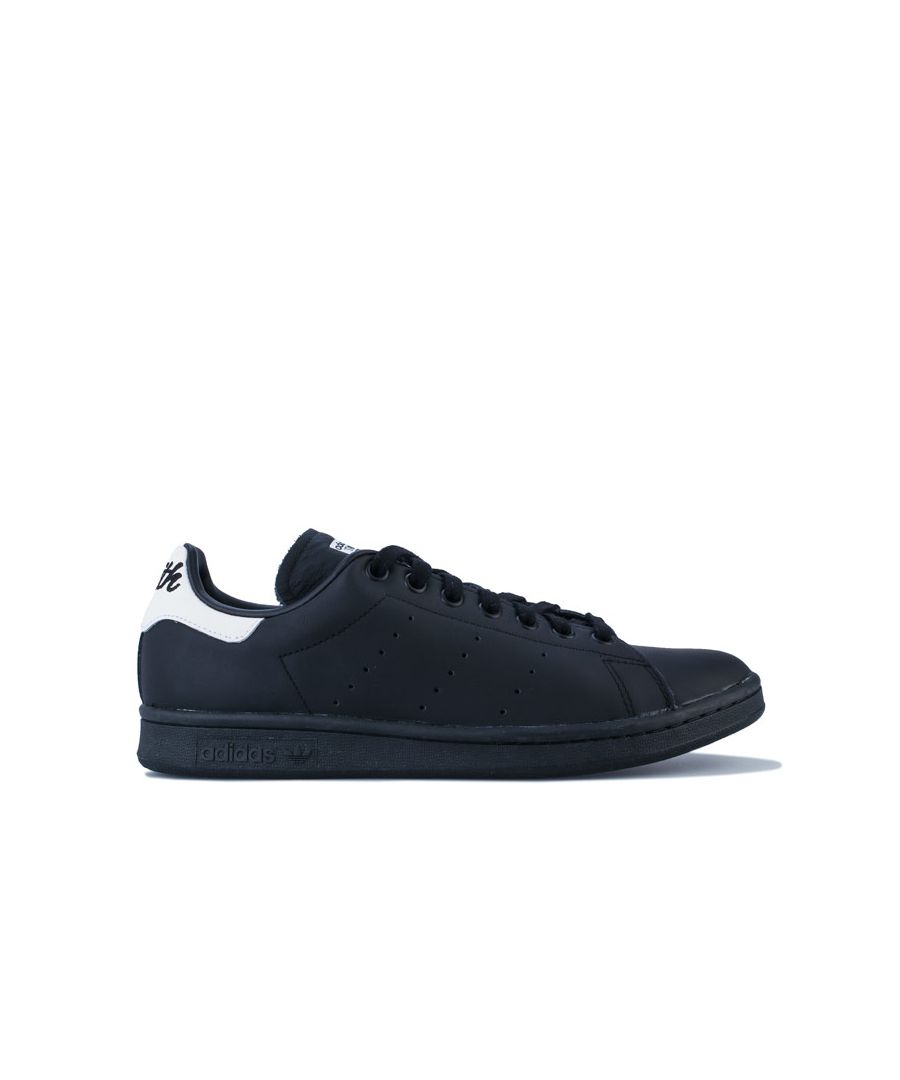 Image for Adidas Originals Stan Smith Trainers in Black-White