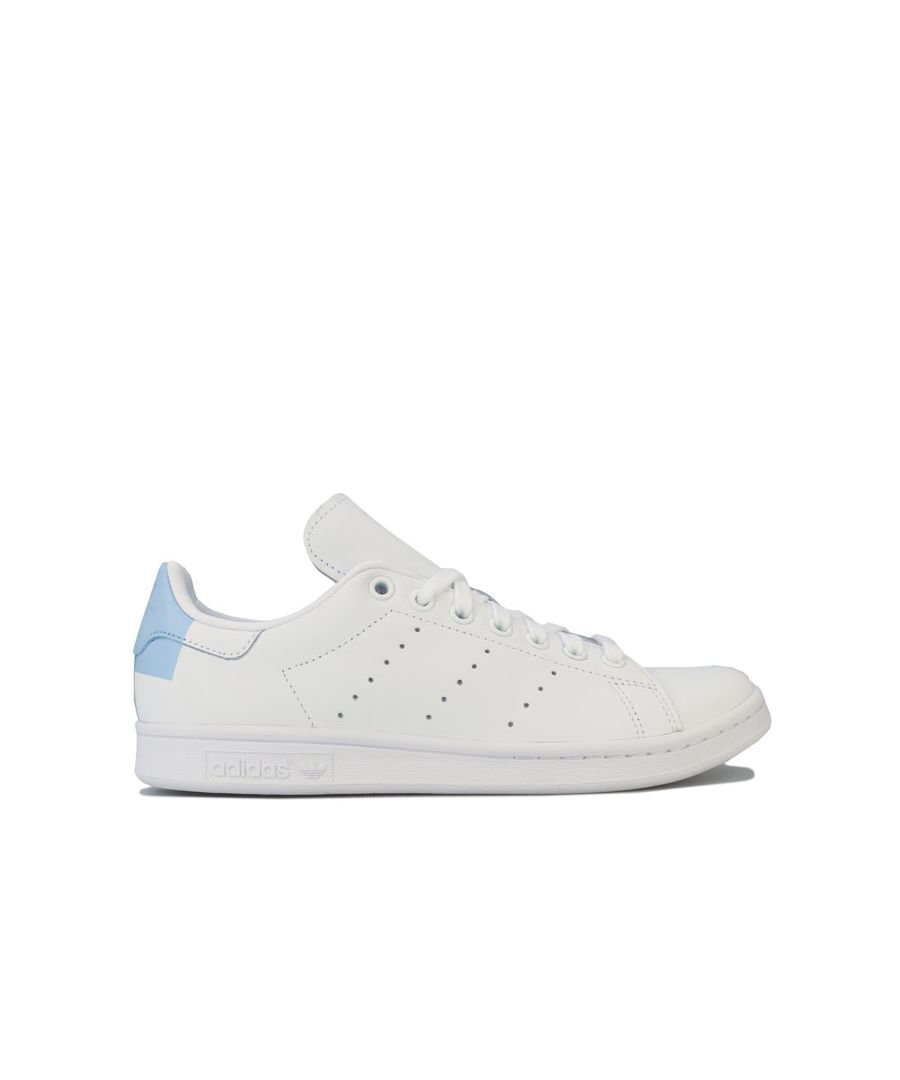 Image for Women's adidas Originals Stan Smith Trainers in White blue
