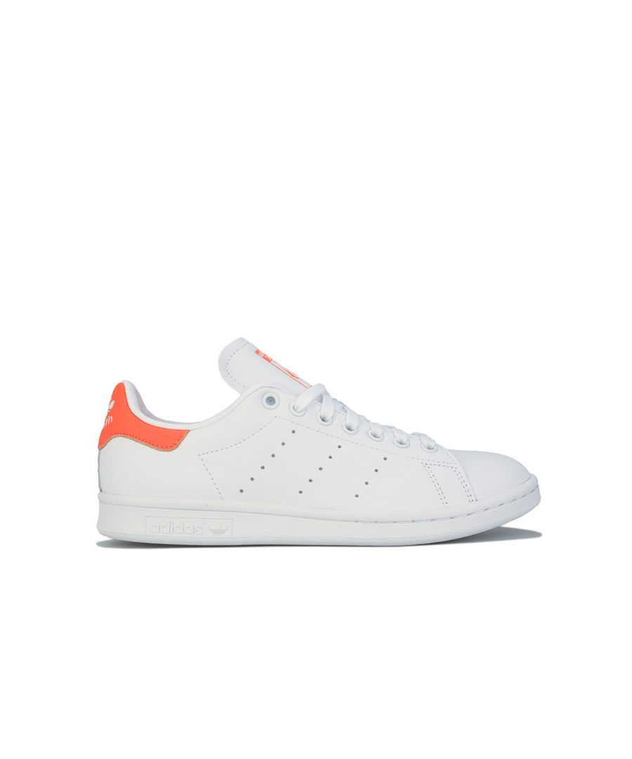 Image for Adidas Originals Stan Smith Trainers in white orange