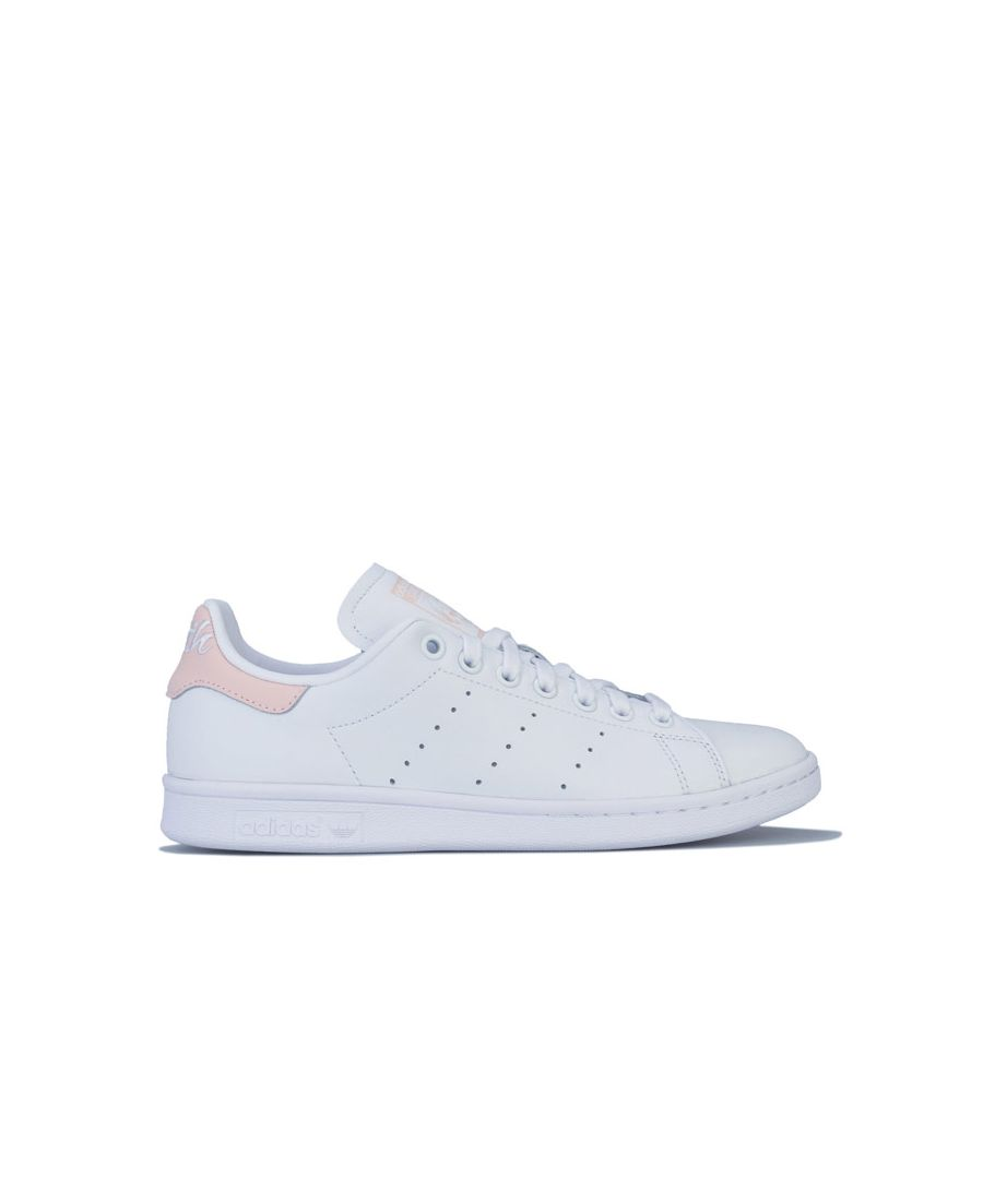 Image for Women's adidas Originals Stan Smith Trainers White pink UK 3.5in White pink