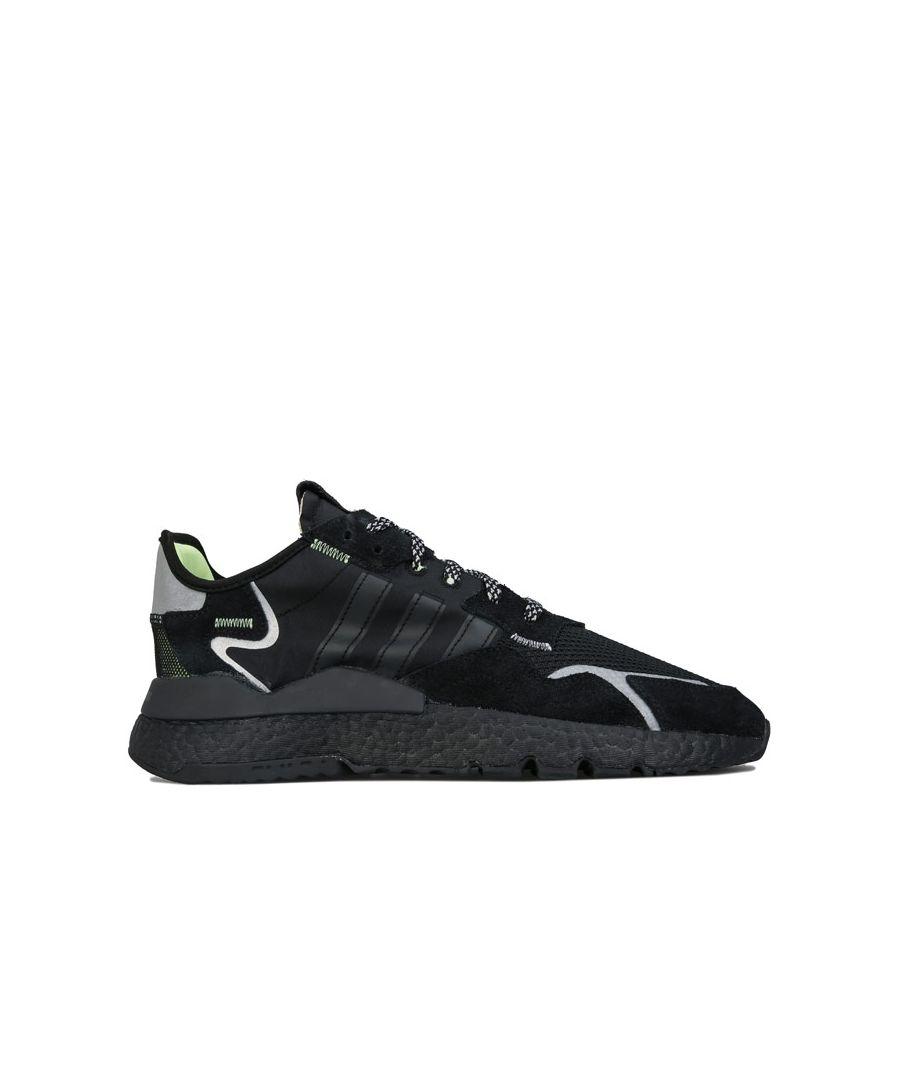 Image for Men's adidas Originals Nite Jogger Trainers Black UK 6in Black
