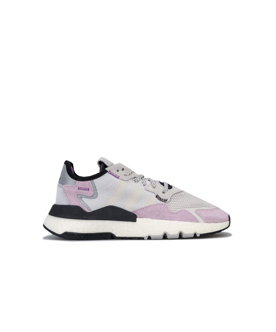 Image for Women's adidas Originals Nite Jogger Trainers in Grey Pink