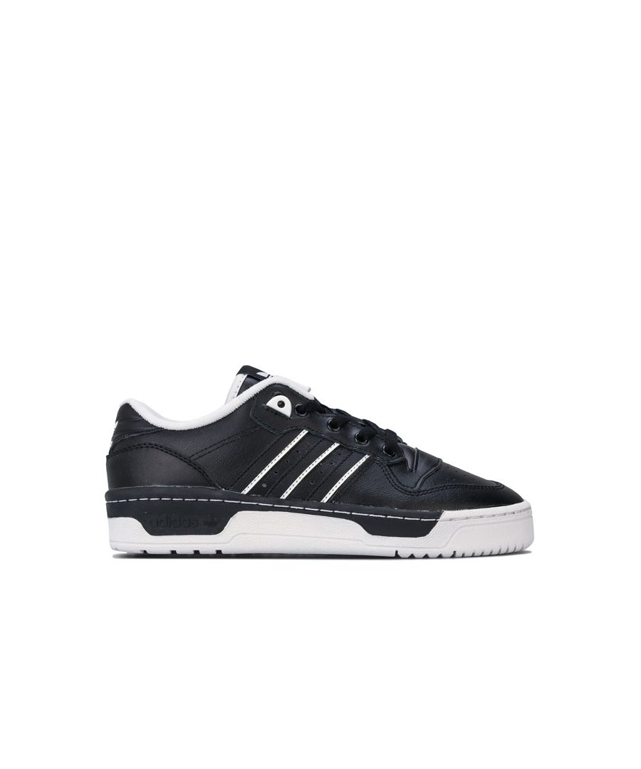 Image for Boy's adidas Originals Junior Rivalry Low Trainers in Black