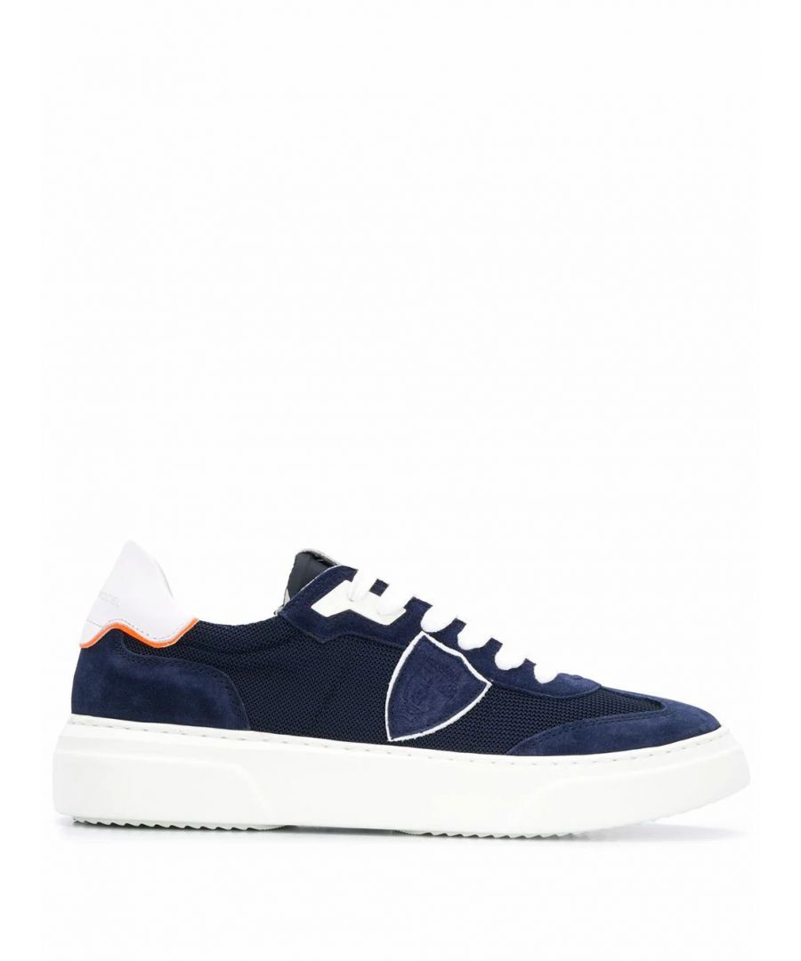 Image for PHILIPPE MODEL MEN'S BDLURX07 BLUE SUEDE SNEAKERS