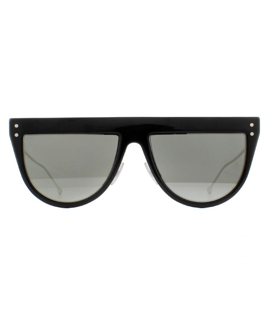 Image for Fendi Sunglasses FF 0372/S 807 T4 Black and Silver Grey with Silver Mirror