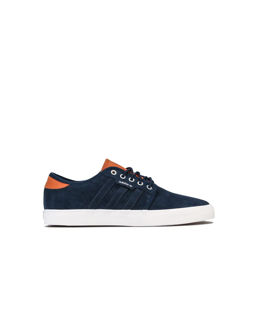 Image for Men's adidas Originals Seeley Trainers in Navy-White