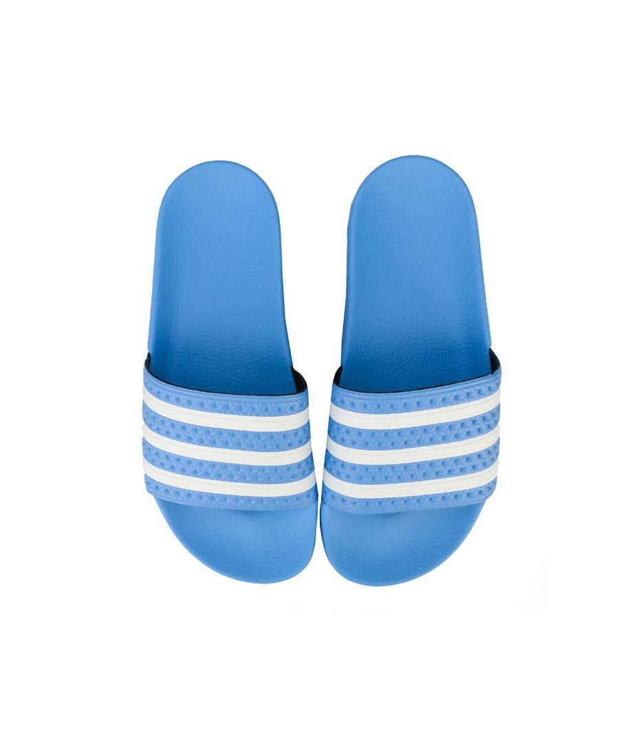 Image for Men's adidas Originals Adilette Slide Sandals in Blue