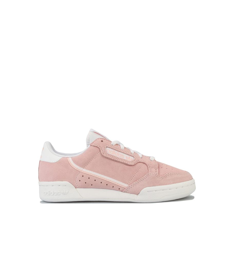 Image for Girl's adidas Originals Junior Continental 80 Trainers in Pink
