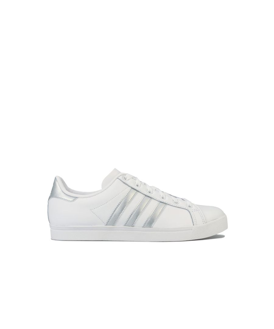 Image for Women's adidas Originals Coast Star Trainers in White silver