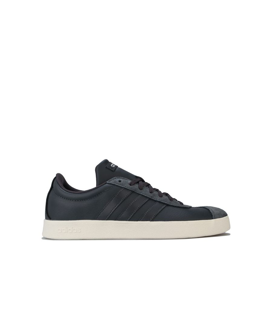 Image for Men's adidas VL Court 2.0 Trainers in Charcoal