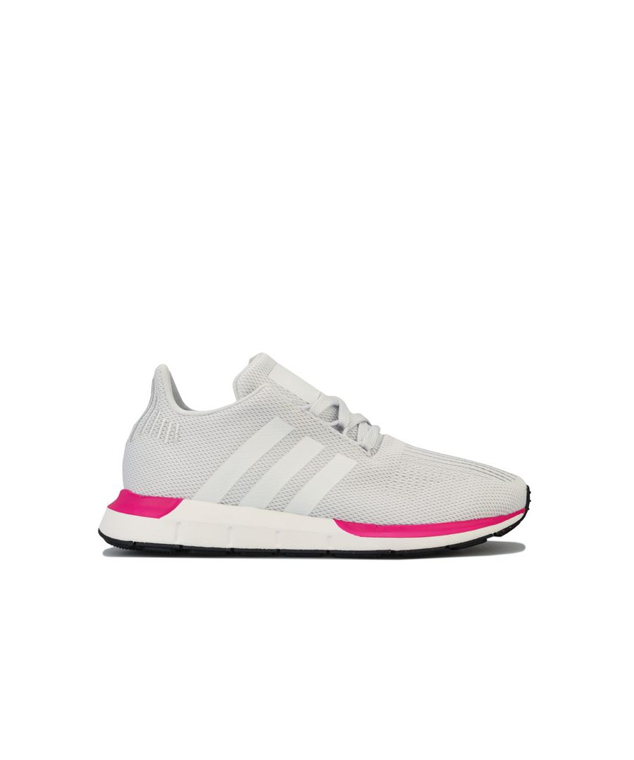 Image for Girl's adidas Originals Junior Swift Run Trainers in Off White