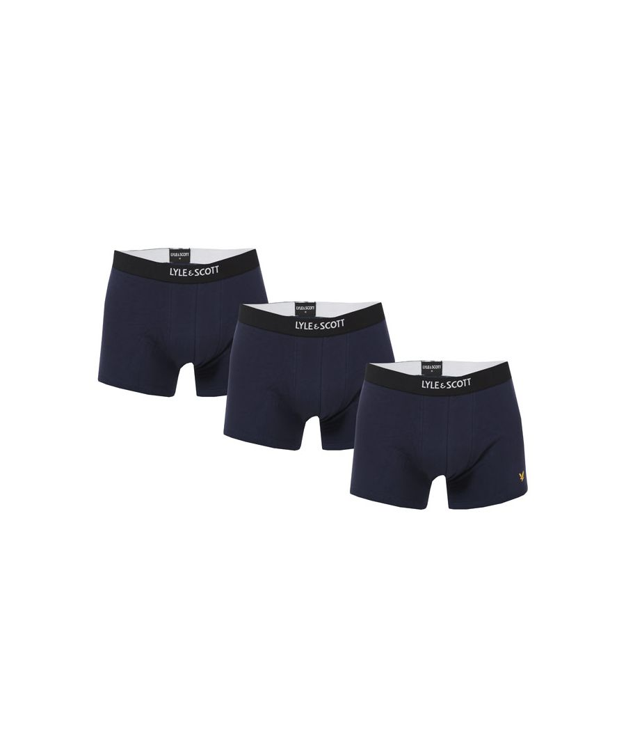 Image for Men's Lyle And Scott Nathan 3 Pack Boxer Shorts in Navy