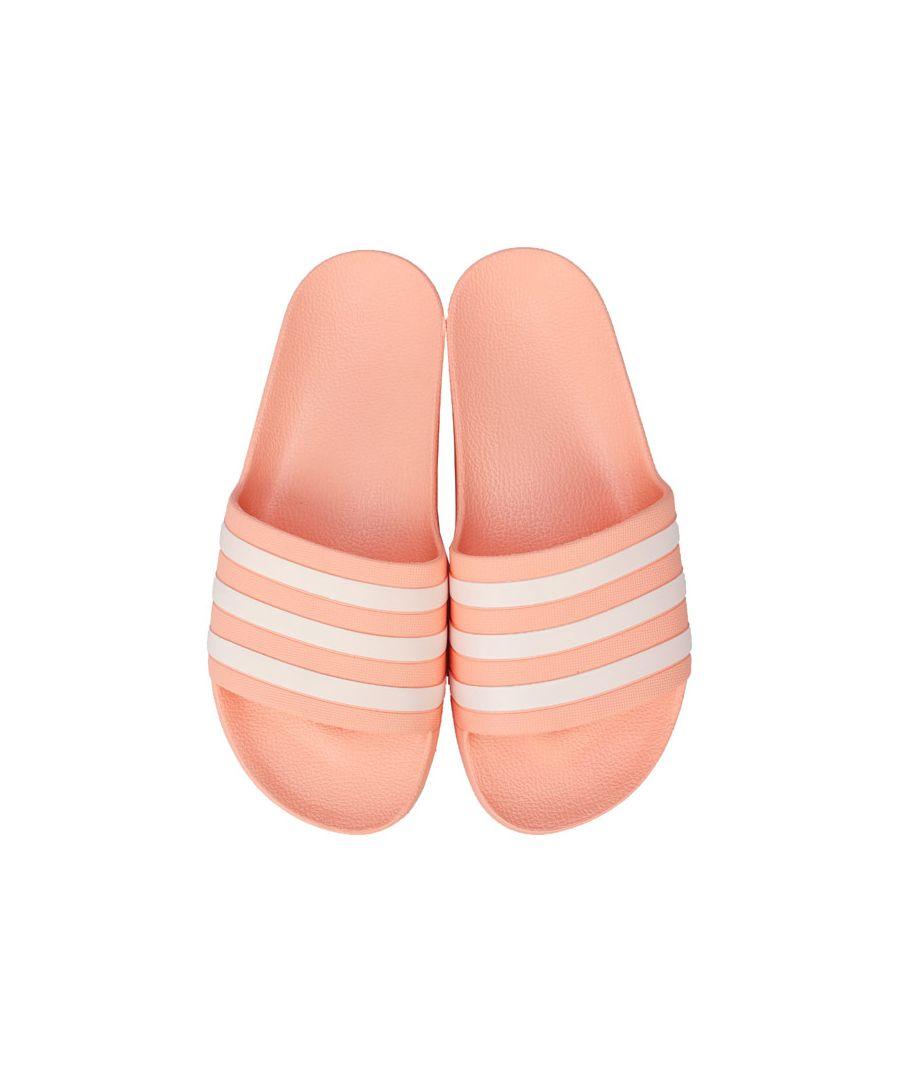 Image for Women's adidas Adilette Aqua Slide Sandals in Pink white