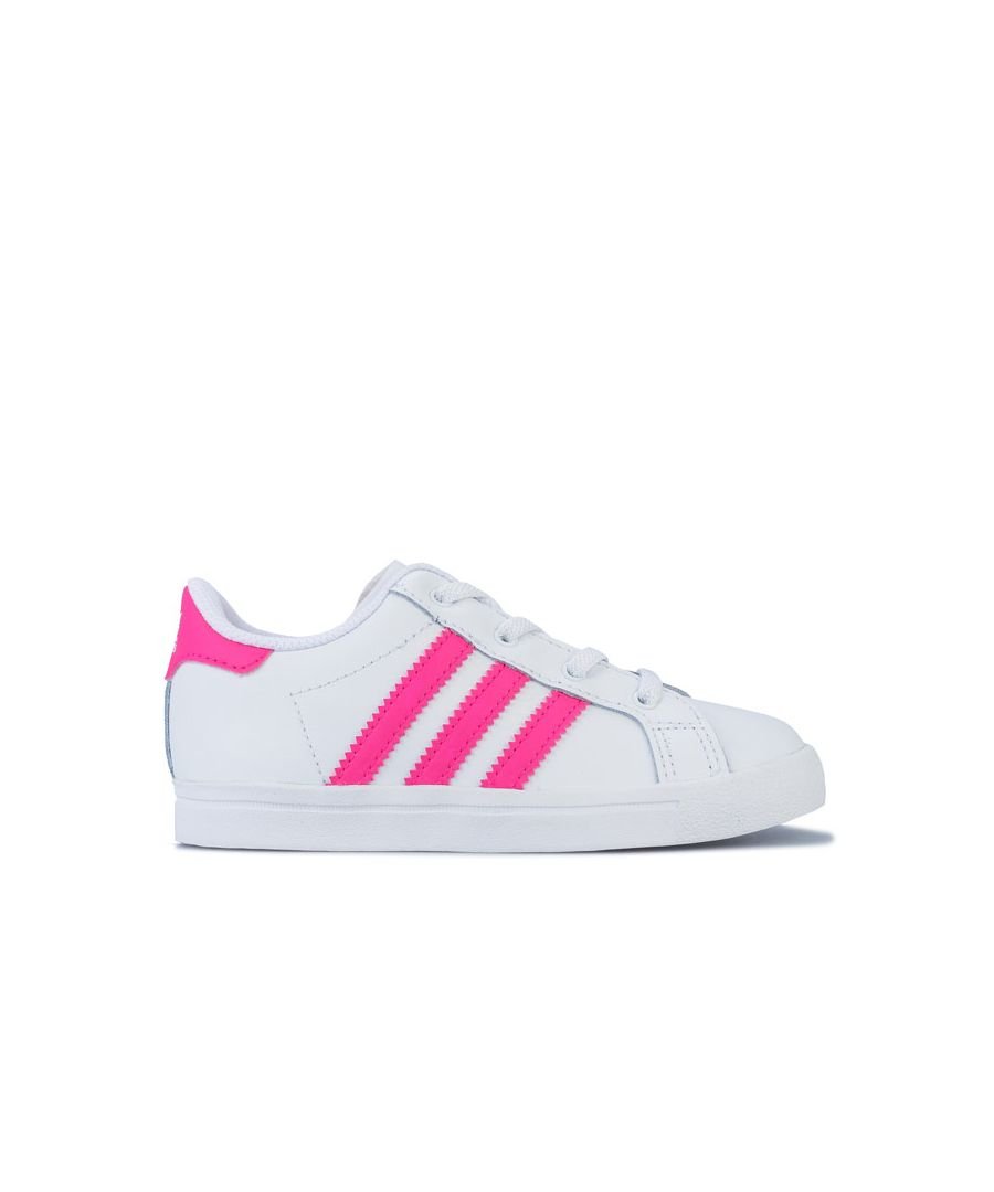 Image for Girl's adidas Originals Infant Coast Star Trainers in White pink