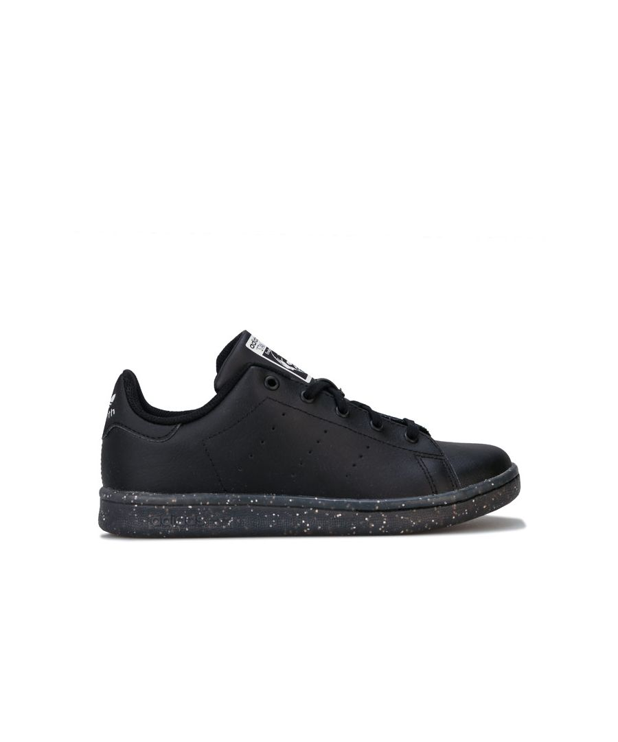 Image for Girl's adidas Originals Childrens Stan Smith Trainers in Black