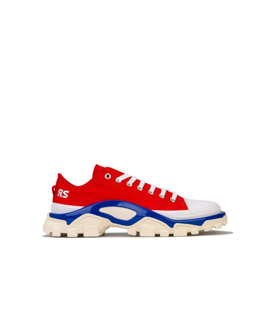 Image for Men's adidas Originals RS Detroit Runner Trainers in Red Blue