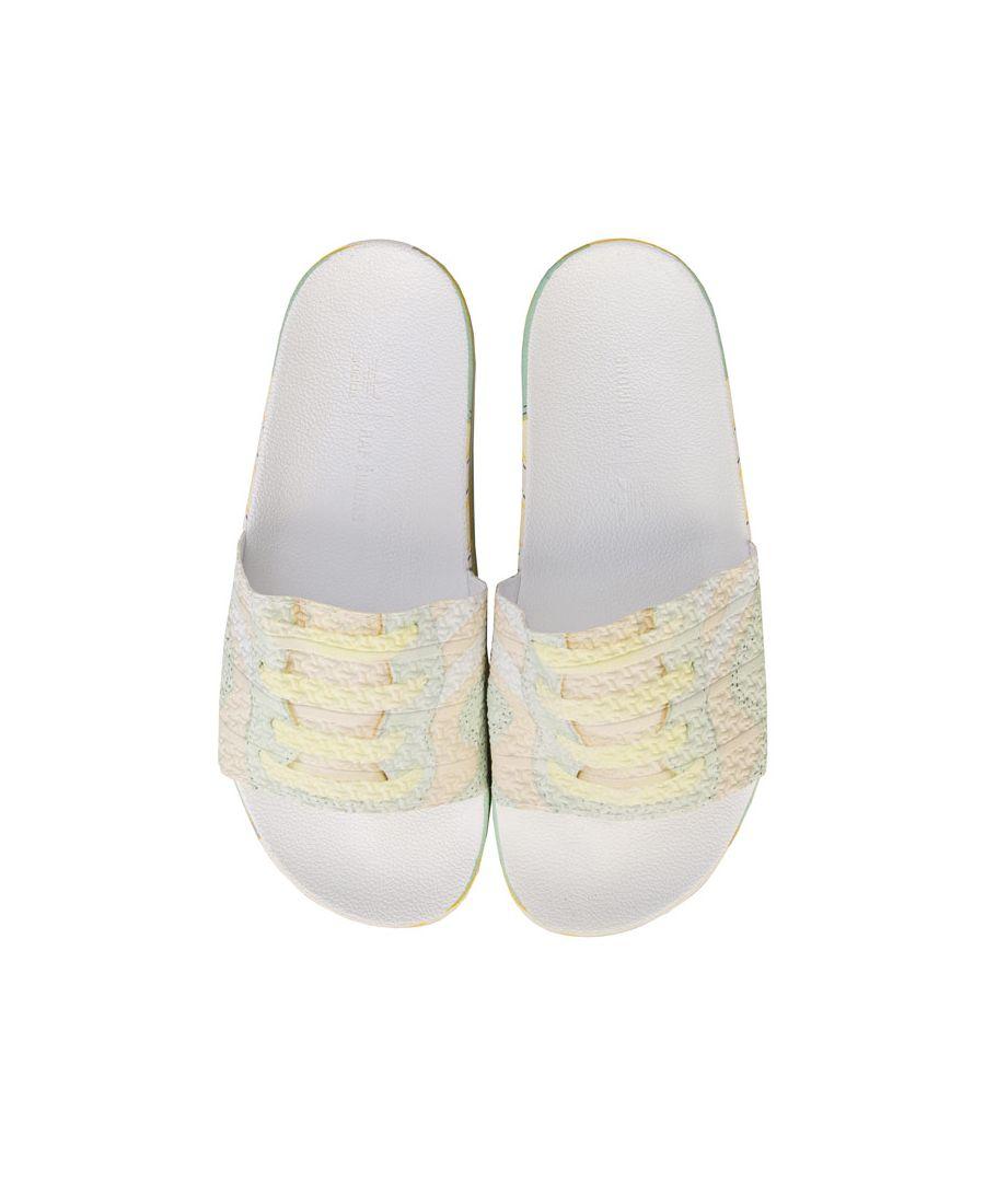 Image for Men's adidas Originals Raf Simons Peach Adilette Slides in Sand