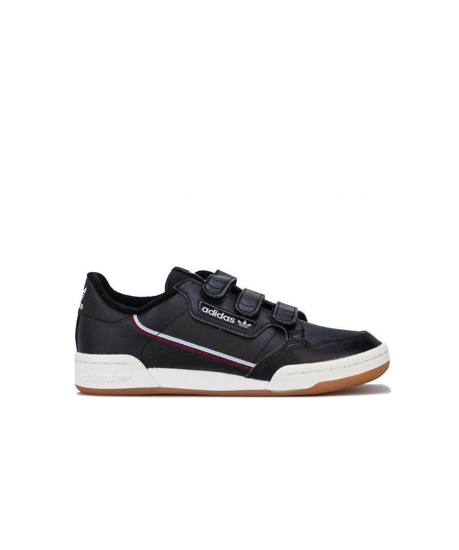 Image for Boy's adidas Originals Junior Continental 80s Trainers in Black