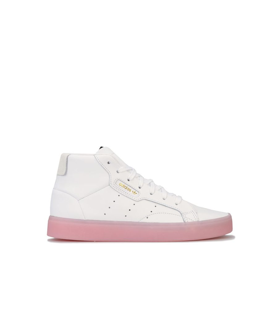 Image for Women's adidas Originals Sleek Mid Trainers in White pink